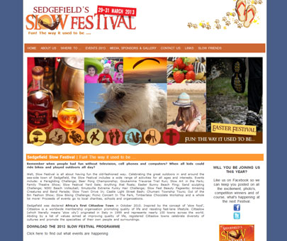 Sedgefield Slow Festival - annual family festival in the Garden Route