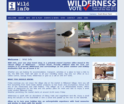 Wild Info - Wilderness Tourism website
