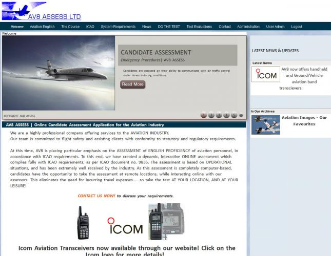 AV8 Assess - ICAO online candidate assessment application for English Language proficiency www.a-v-8.net